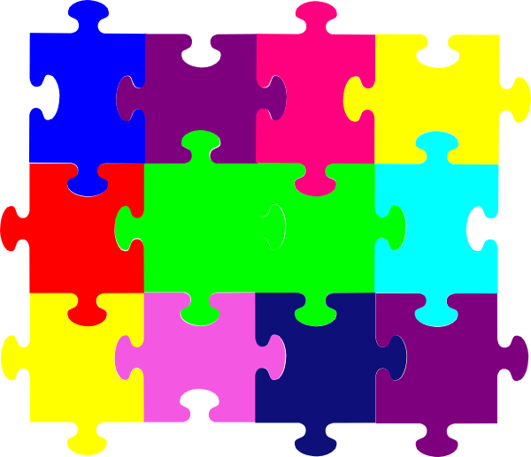 Jigsaw puzzle free clipart graphic free download Jigsaw Puzzle Clip Art at Clker.com - vector clip art online ... graphic free download