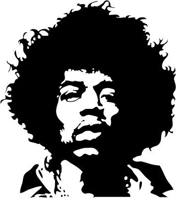 Jimi hendrix clipart graphic transparent download Jimmy Hendrix Vector Portrait | The Energy of Sound | Pop ... graphic transparent download