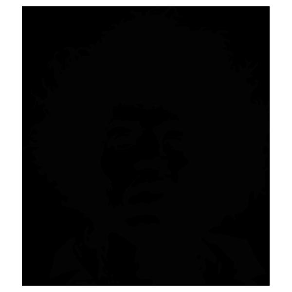 Jimi hendrix clipart royalty free Jimi Hendrix Black and white Portrait Stencil Guitarist ... royalty free