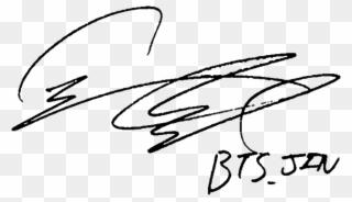 Jin signature clipart svg stock Jin Seokjin Signature - Bts Persona Photocard Translation ... svg stock