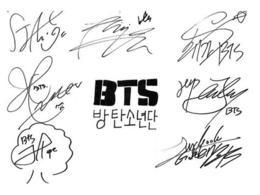Jin signature clipart svg black and white library Download bts v signature clipart BTS K-pop We Are ... svg black and white library