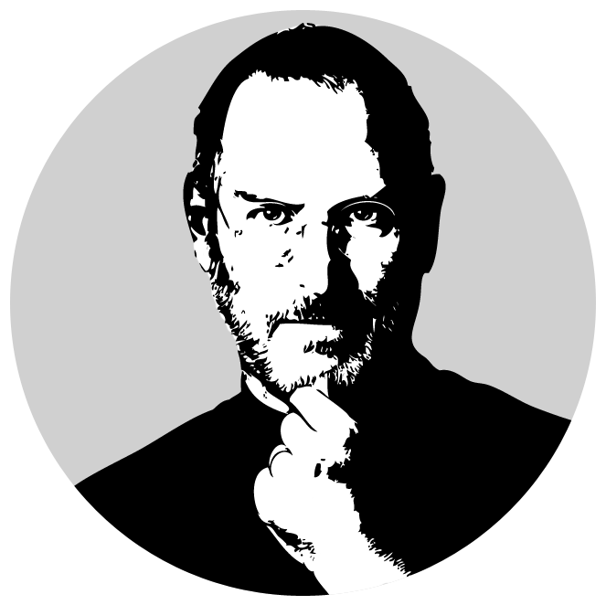Jobs money clipart black and white clip transparent download Steve Jobs Transparent PNG File | Web Icons PNG clip transparent download