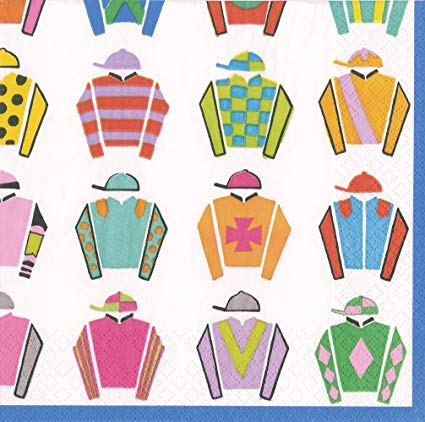 Jockey silks clipart clipart transparent library Entertaining with Caspari 14370L Jockey Silks Napkin Luncheon Multicolor clipart transparent library