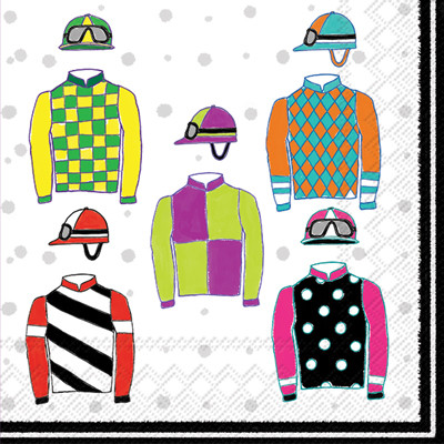 Jockey silks clipart banner freeuse stock Jockey Silks Lunch Napkin banner freeuse stock