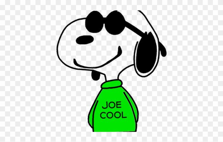 Joe cool clipart graphic black and white Snoopy Clipart Joe Cool - Snoopy - Png Download (#3682338 ... graphic black and white
