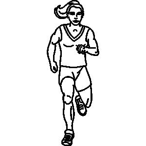 Jogging clipart black and white outline vector library stock Girl Jogging Clipart | Free download best Girl Jogging ... vector library stock
