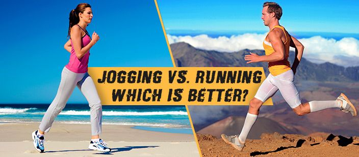 Jogging vs running
