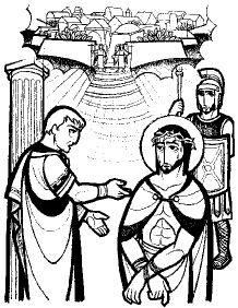 John 18 33-37 black & white clipart picture freeuse download John 18: 33-37 | iconoss | Escritura, Sagrado y Diario picture freeuse download