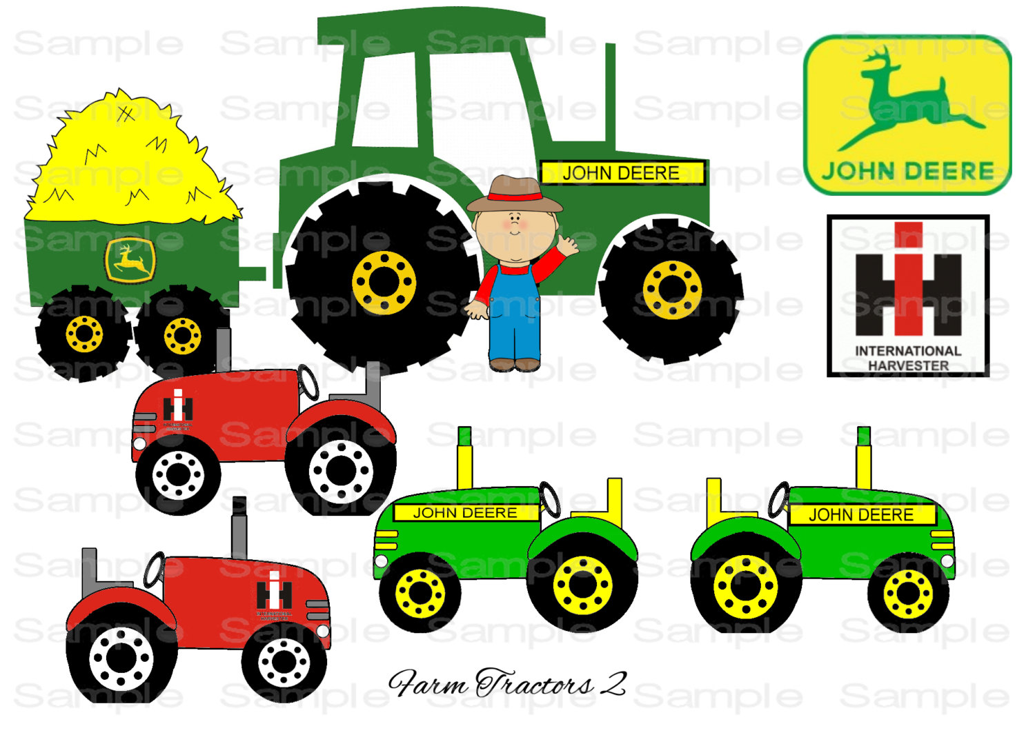 John deere tractor clipart free clip black and white stock 60+ John Deere Tractor Clipart   ClipartLook clip black and white stock