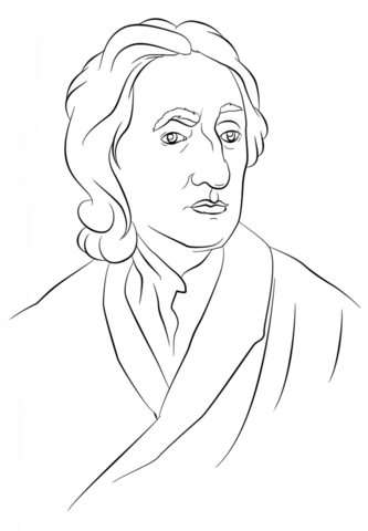 John locke clipart picture black and white library John Locke coloring page | Free Printable Coloring Pages picture black and white library
