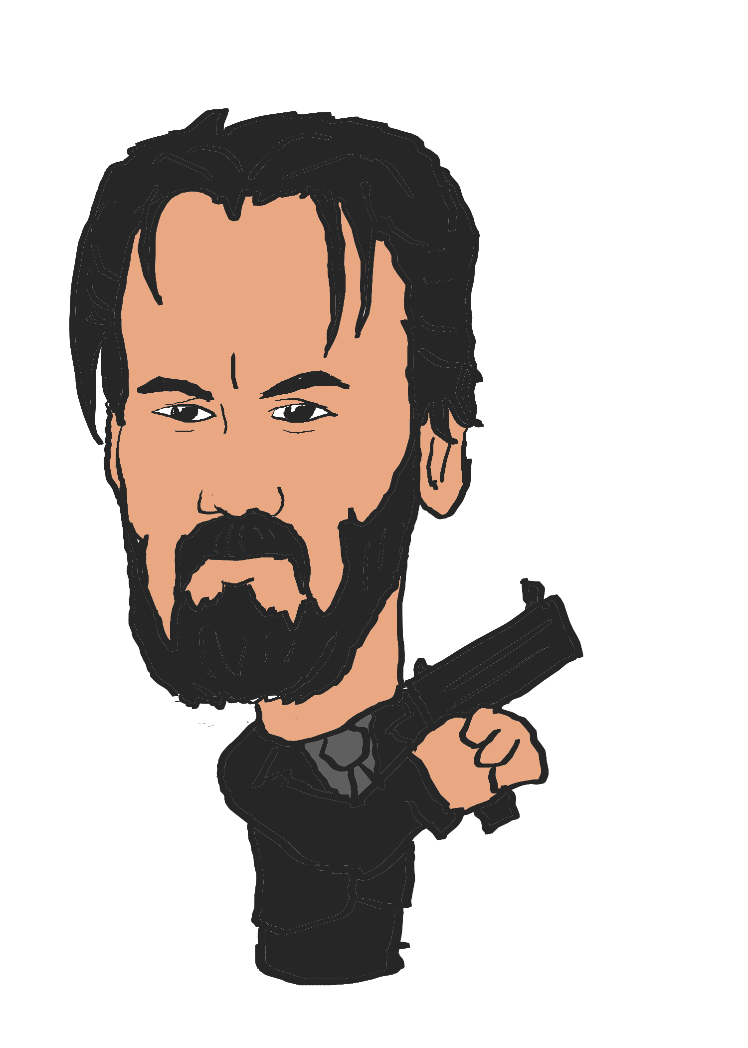 John wick clipart graphic download Keanu Reeves as John Wick by FSudol on DeviantArt graphic download