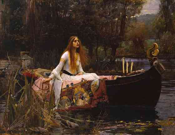 John william waterhouse clipart vector black and white library Waterhouse, The Lady of Shalott (article) | Khan Academy vector black and white library