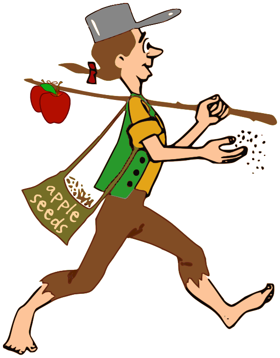 Johnny apple seed clipart transparent stock Johnny Appleseed - /American_History/Historic_figures ... transparent stock