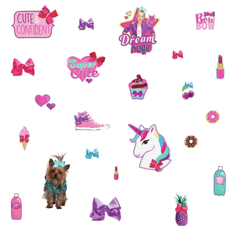 Jojo siwa clipart jpg royalty free stock JoJo Siwa Cute and Confident Peel and Stick Wall Decals with Glitter jpg royalty free stock