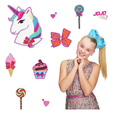 Jojo siwa clipart png royalty free download JoJo Siwa Unicorn Dream Peel and Stick Giant Wall Decals Fun Candy Decor png royalty free download