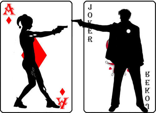 Joker and harley clipart clipart free harley quinn and the joker image on We Heart It clipart free