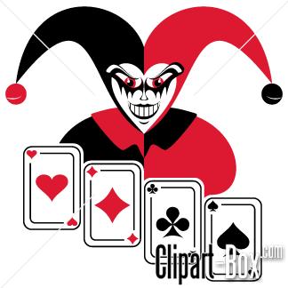 Joker clip art svg transparent CLIPART JOKER AND CARDS | Royalty free vector design svg transparent