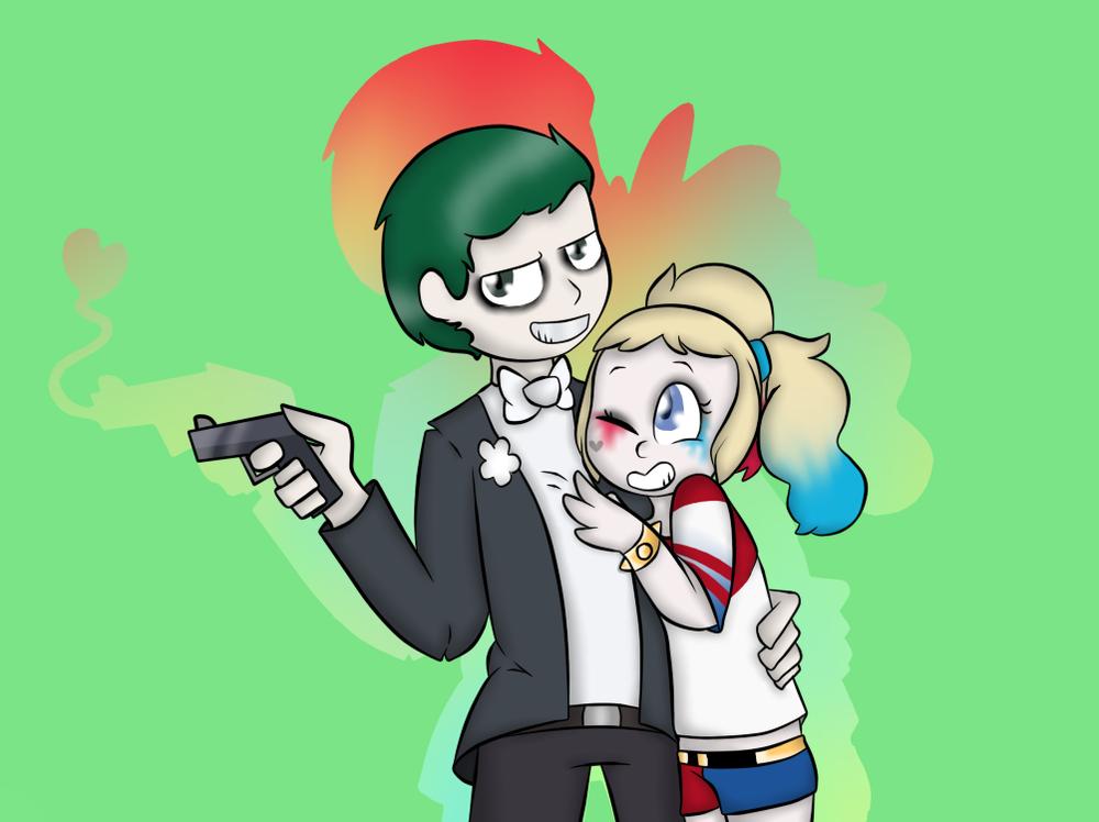 Joker clip art clipart Phsycho Lovers (Harley x Joker- Suicide Squad) by CatBunnyArt on ... clipart
