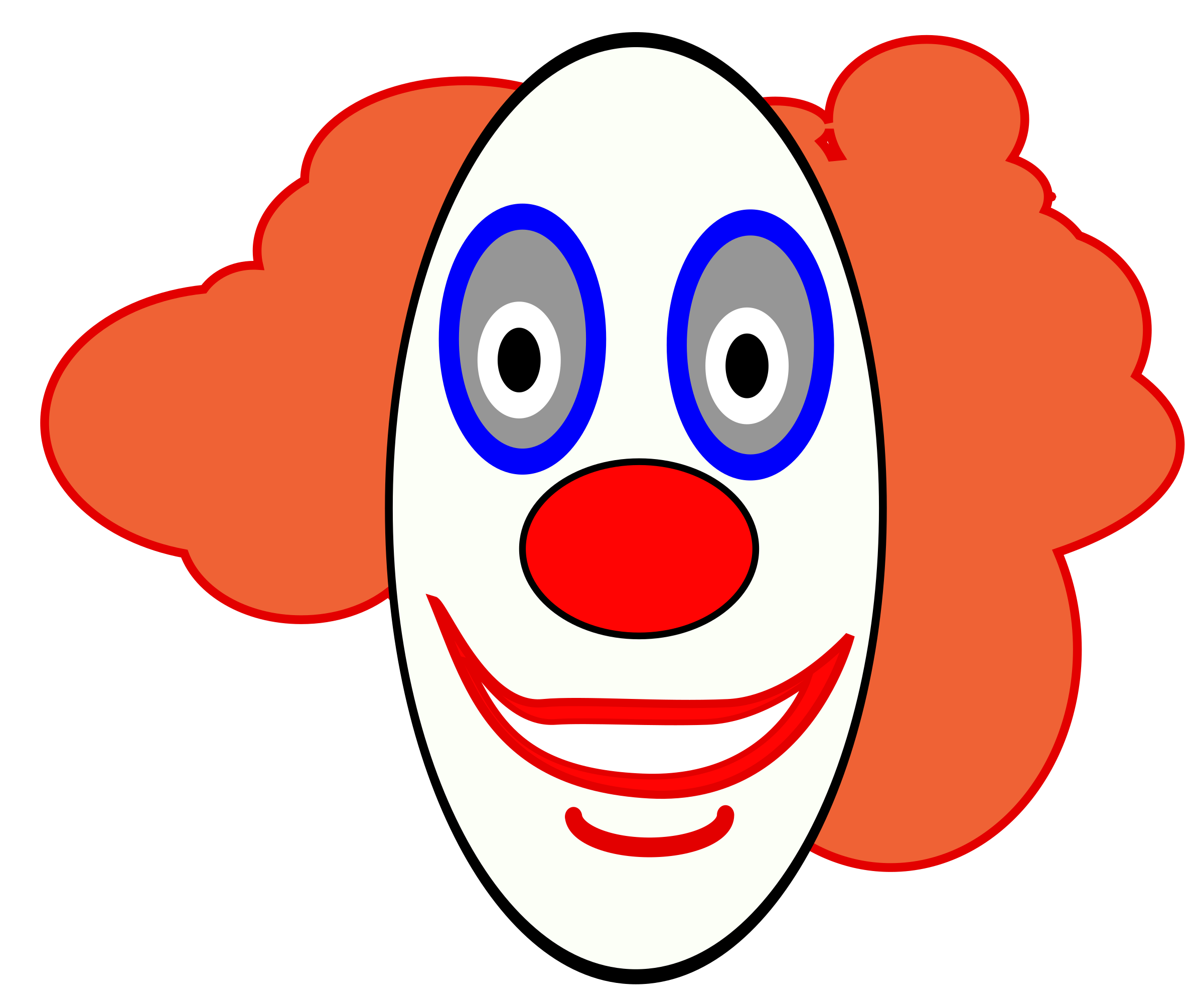 Jester laughing crown clipart black and white