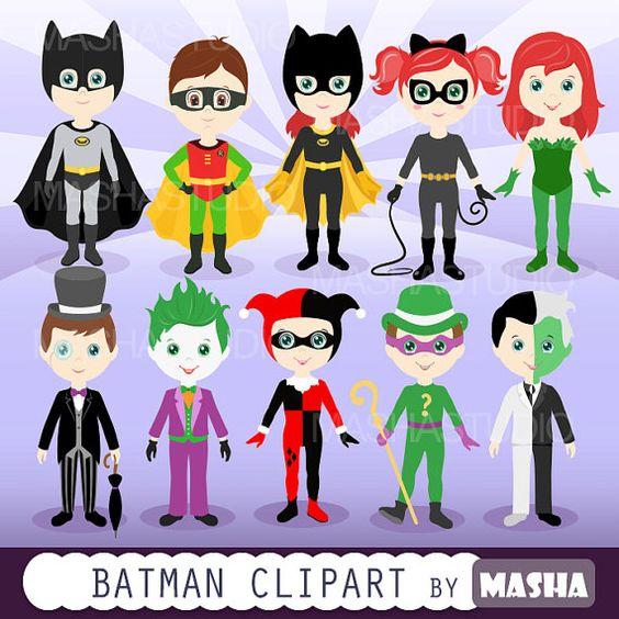 Joker clipart batman clip art transparent download Superhero Digital Clipart: