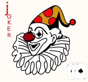Joker clipart black and white clip art freeuse download Joker clipart black and white - ClipartFest clip art freeuse download