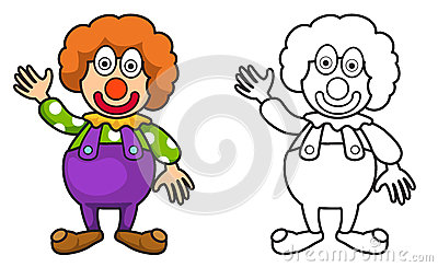 Joker clipart black and white clip art transparent library Colorful And Black And White Joker For Coloring Book Stock Vector ... clip art transparent library