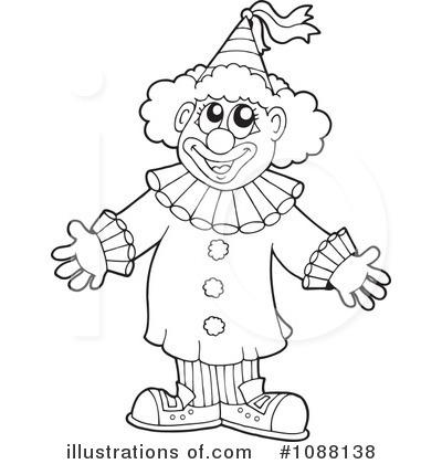 Joker clipart black and white svg royalty free stock Cute Clown Black And White Clipart - Clipart Kid svg royalty free stock