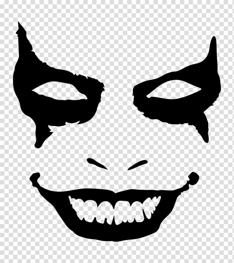 Joker face mask clipart clip black and white download Joker Batman Decal Sticker , joker transparent background PNG ... clip black and white download