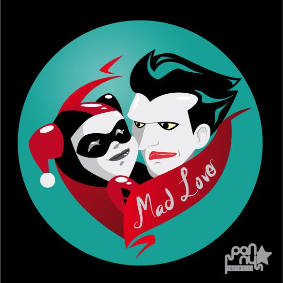 Joker harley quinn mad love clipart vector library stock Mad Love- Harley Quinn and The Joker | Tat inspirations ... vector library stock
