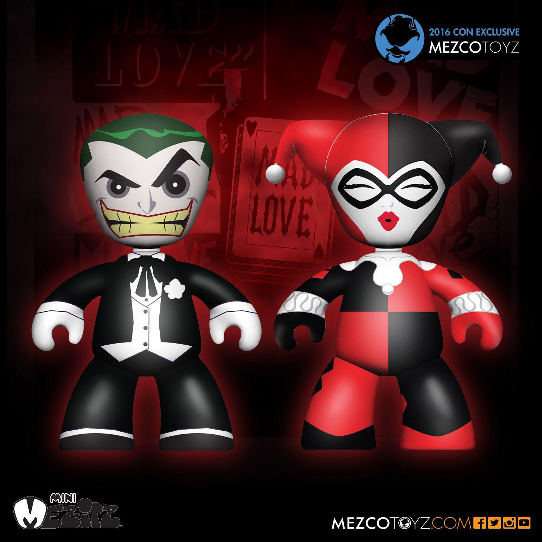 Joker harley quinn mad love clipart picture black and white stock Mez-itz Mad Love Joker & Harley Quinn Clip-on – Mezco Toyz picture black and white stock