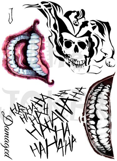 Joker mouth clipart vector black and white download Joker tattoos | Jokers, Joker tattoos and Tatuajes vector black and white download