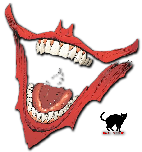 Joker mouth clipart free Joker's mouth|Render by Baal-Zebud on DeviantArt free