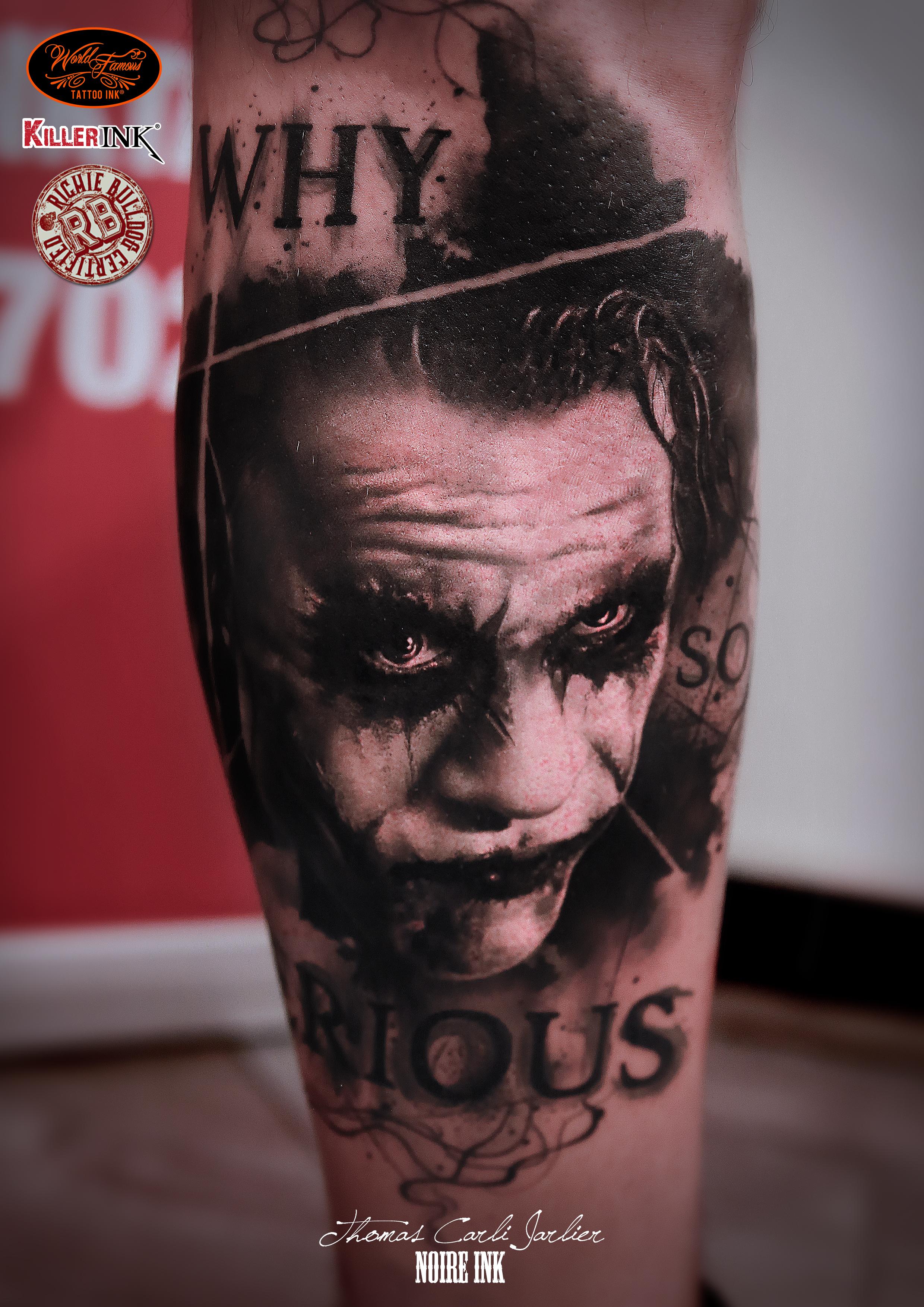 Joker tattoo png Joker tattoo - ClipartFest png