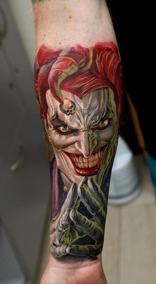 Joker tattoo transparent library 20 Twisted DC's Joker Tattoos | Tattoodo transparent library