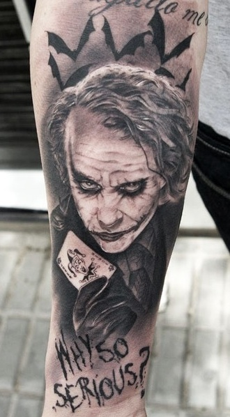 Joker tattoo image royalty free library 55+ Cool Joker Tattoos image royalty free library