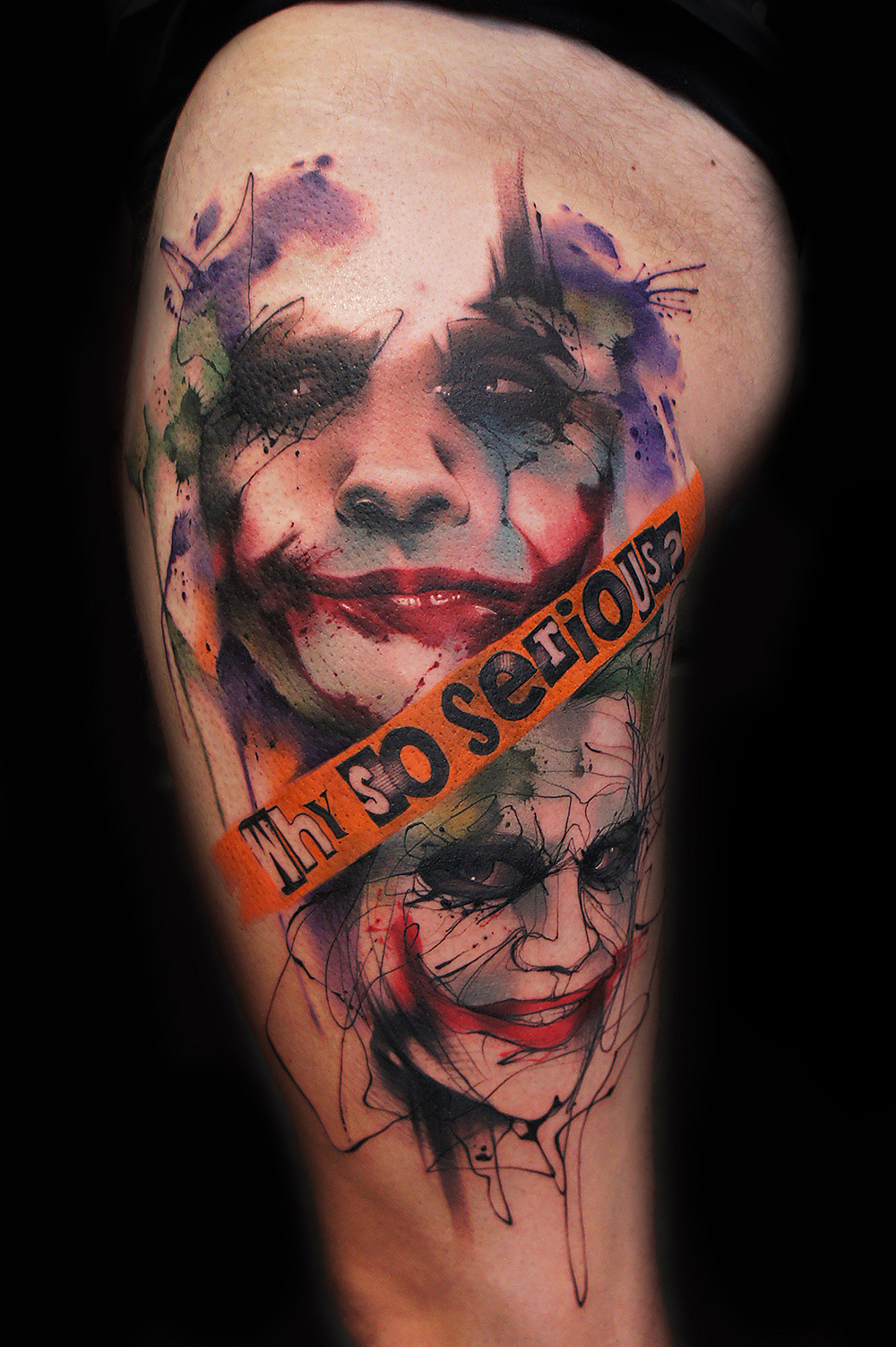 Joker tattoo vector black and white stock Joker tattoo by Jay Freestyle | Tattoo.com vector black and white stock