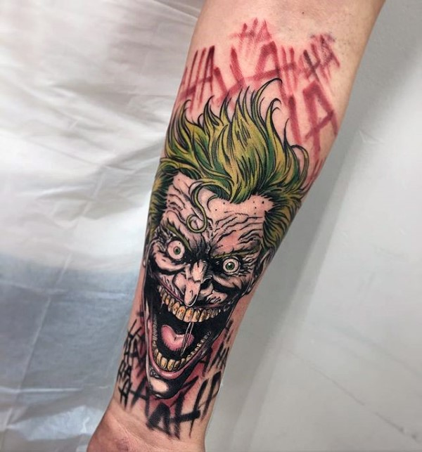 Joker tattoo graphic free library 90 Joker Tattoos For Men - Iconic Villain Design Ideas graphic free library