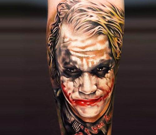 Joker tattoo image royalty free stock Brilliant Joker Tattoo - More than just Gotham's Nemesis ... image royalty free stock