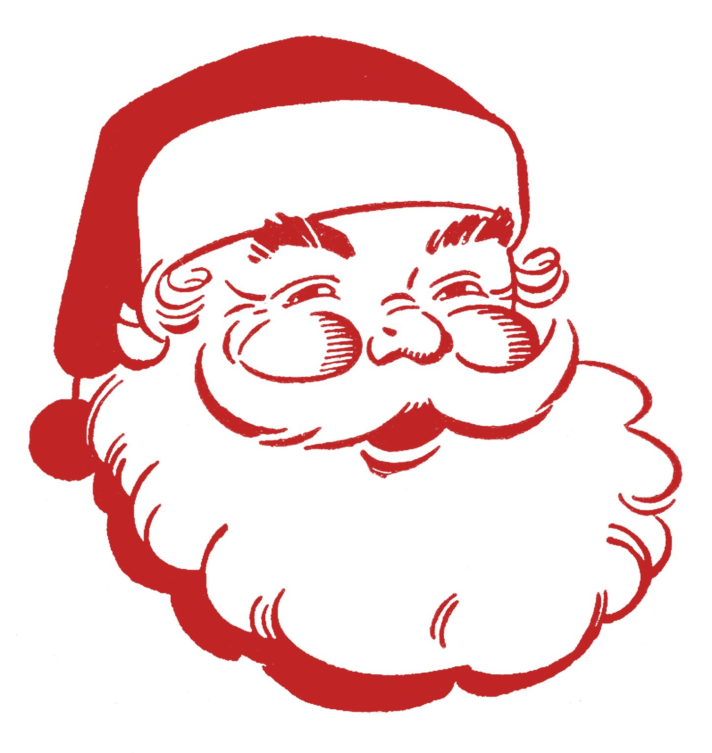 Jolly cliparts png 12 Cute Santa Clipart - Retro Style! | christmas | Christmas clipart ... png