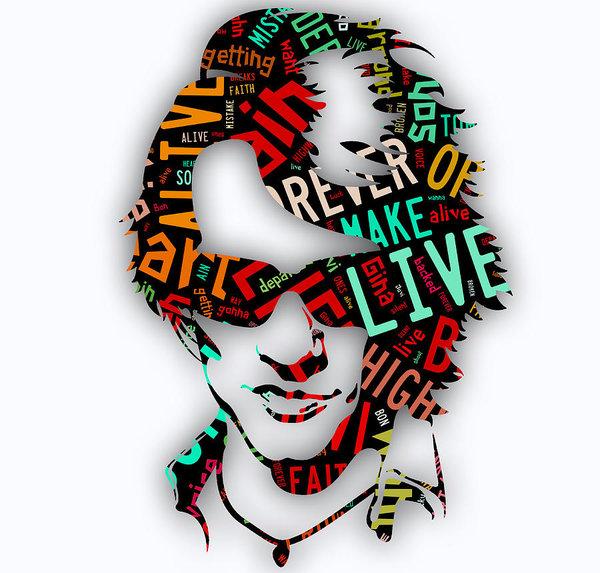 Jon bon jovi clipart image royalty free download Jon Bon Jovi It\'s My Life Lyrics Poster image royalty free download