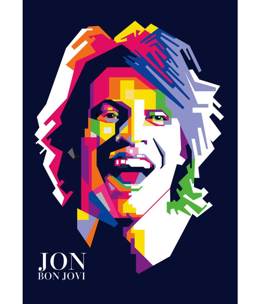 Jon bon jovi clipart library ULTA ANDA Jon Bon Jovi Canvas Art Prints With Frame Single Piece ... library