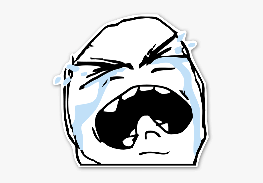 Jordan crying meme clipart graphic black and white download Crying Meme Png - Sad Meme Face Png #1052169 - Free Cliparts on ... graphic black and white download