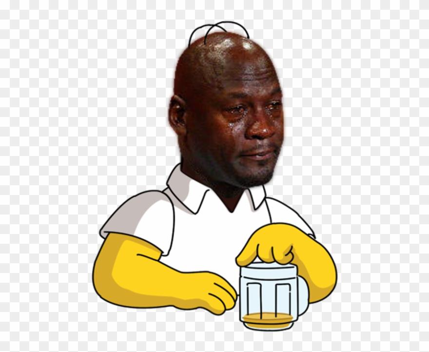 Jordan crying meme clipart graphic library library Crying Jordan Face Png - Michael Jordan Meme Png Clipart (#965139 ... graphic library library