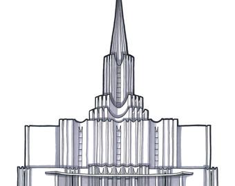 Jordan river temple clipart jpg royalty free download Jordan river temple | Etsy jpg royalty free download
