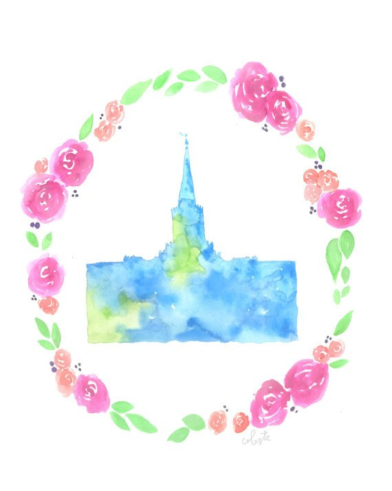 Jordan river temple clipart graphic library library Jordan River, Utah LDS Temple – CELESTE C. CLARK graphic library library