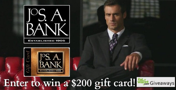 Joseph a bank banner black and white library Jos. A. Bank Giveaway: Win a $200 Gift Card! banner black and white library