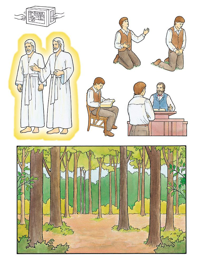 Joseph smith first vision clipart graphic library library Joseph Smith First vision felt board pictures. Have boys color and ... graphic library library