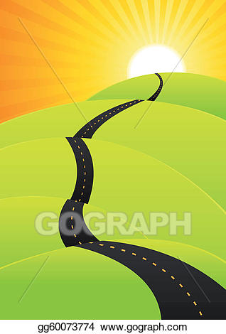 Journey images clipart clipart library download EPS Vector - Summer travel - long road journey. Stock Clipart ... clipart library download
