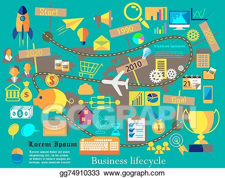 Journey of life clipart banner library Vector Art - Business and technology web icons. EPS clipart ... banner library