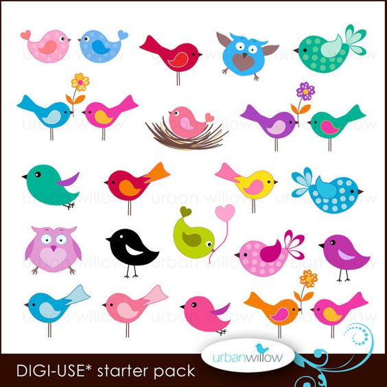Jpeg clip art images jpg free stock 20 LITTLE BIRDS. Digital clip art collection, in Jpeg and Png ... jpg free stock